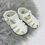 White Spanish 'Larry' Sandals Front