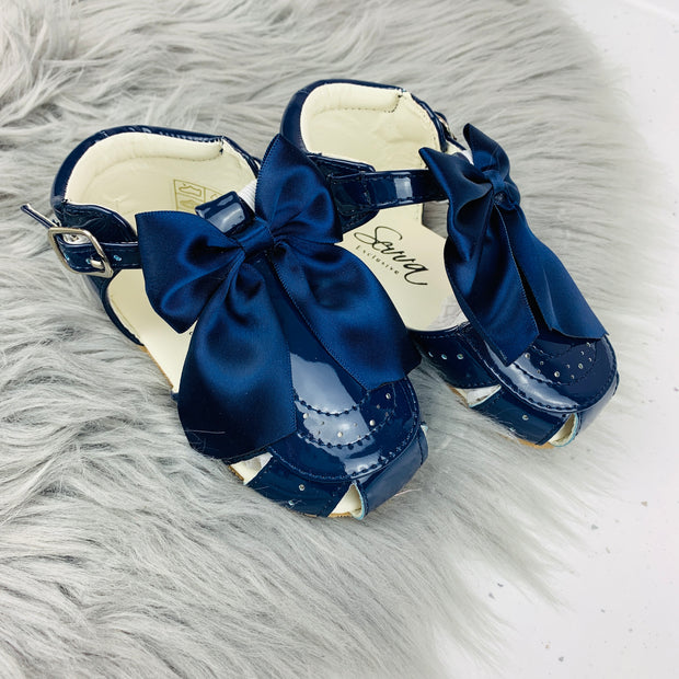 Navy Spanish 'Terri' Sandals Front