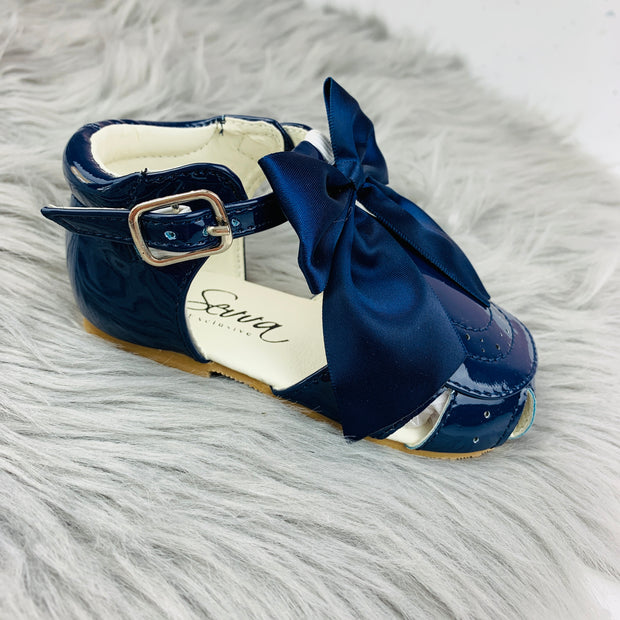 Navy Spanish 'Terri' Sandals Side