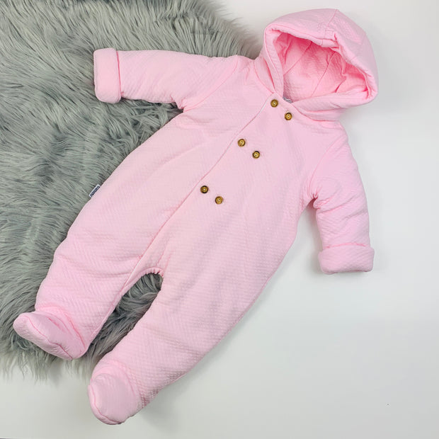 Pink Quilted Pramsuit