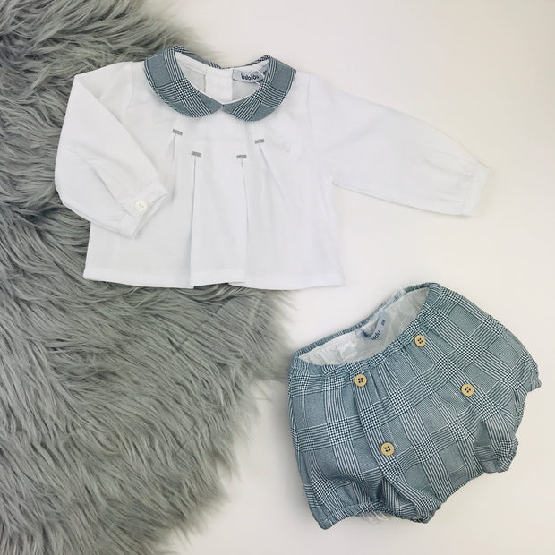 Babidu Grey & White Spanish Jam Pants Set