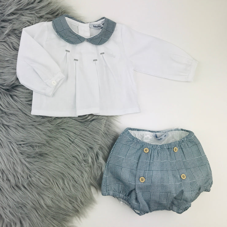 Grey & White Spanish Jam Pants Set