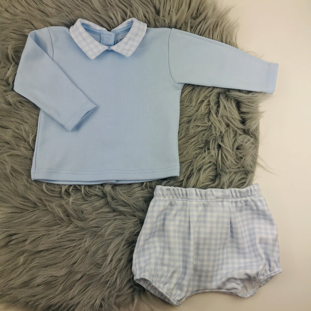 Rapife Baby Blue Top & Jam Pants Set