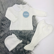 Ivory Three Piece Knitted Set
