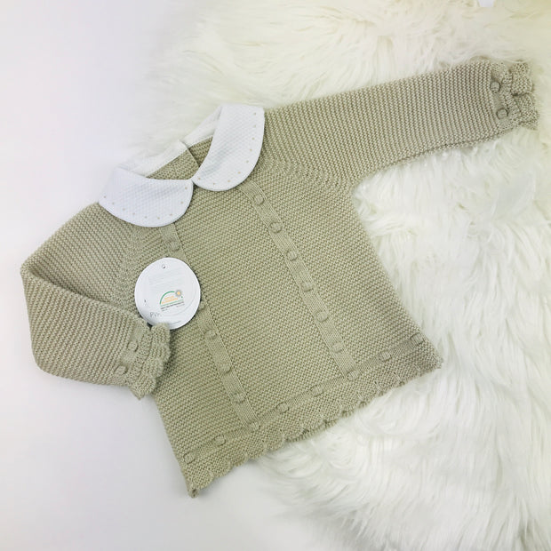 Beige Three Piece Knitted Set Top