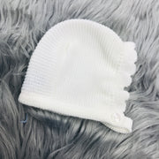 Ivory Three Piece Knitted Set Bonnet