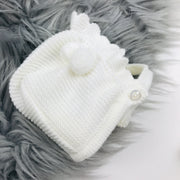 Cream Three Piece Knitted Spanish Set Bonnet
