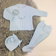 Baby blue knitted Spanish set
