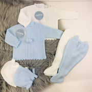 White Three Piece Knitted Spanish Set