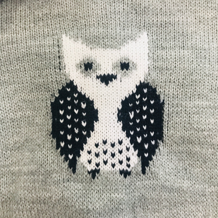 Grey & Navy Blue Knitted Owl