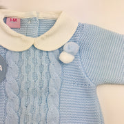 Juliana baby blue spanish romper