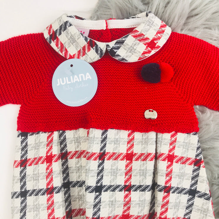 Spanish red tartan romper by Juliana