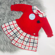 Red tartan Spanish dress