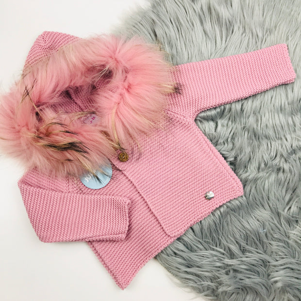 Dusky Pink Knitted Spanish Coat