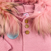 Dusky Pink Knitted Spanish Coat Close