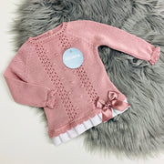 Dusky Pink  Knitted Spanish Top