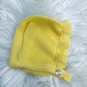 Yellow  Knitted Spanish Bonnet