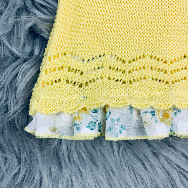 Yellow  Knitted Spanish Hem Close