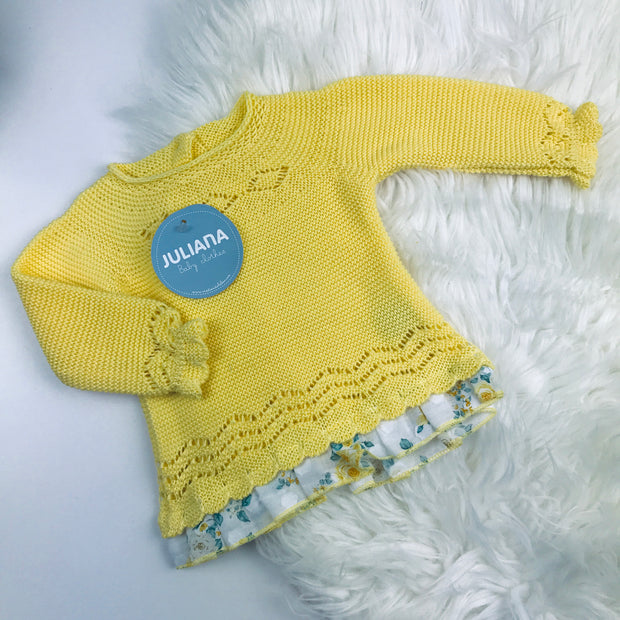 Yellow Knitted Spanish Top