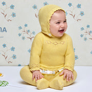 Yellow Three Piece Knitted Spanish Set