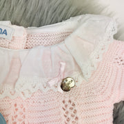 Pink Knitted Spanish Collar Close