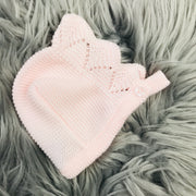Pink Knitted Spanish Bonnet