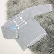 Pearl Grey Spanish Knitted Top