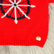 Red Knitted Top Hem