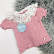 Dusky Pink Knitted Elephant Top