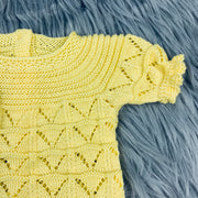 Yellow Knitted Top Close