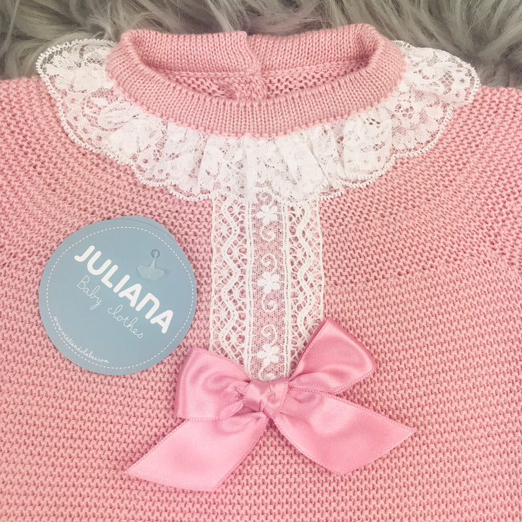 Dusky Pink Knitted Top Close