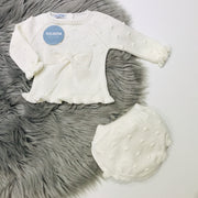Cream Knitted Jam Pant Set