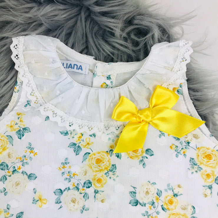 Yellow Floral Top Close