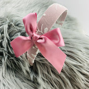 Dusky Pink & Cream Lace Headband