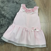 Pink Sleeveless A-Line Spanish Dress