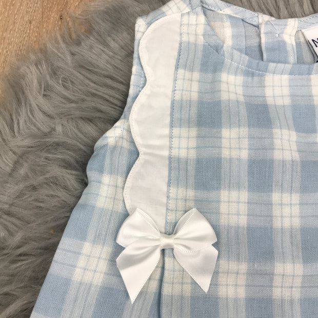 Blue & White Dress & Jam Pants close