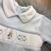 Peter Rabbit Smocked Velour Footsie
