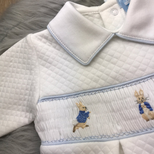 Peter Rabbit Smocked Quilted Footsie