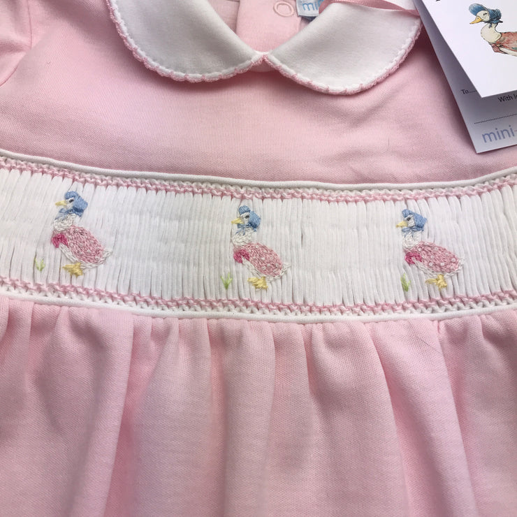 Jemima Puddle Duck Smocked Footsie