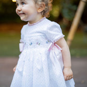 White Smocked Dress Side