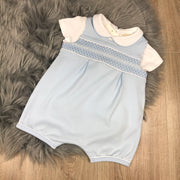 Boys Blue Romper & T-Shirt Set