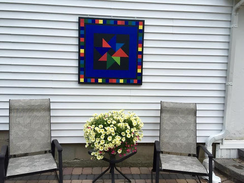 Barn Quilt on a patio