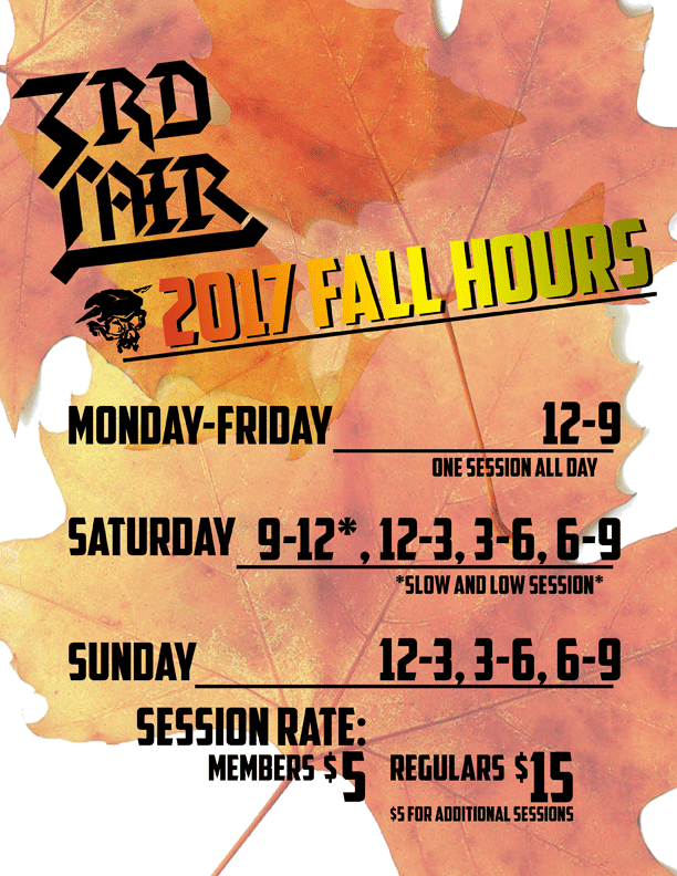 Fall Session Times Start Sep 5