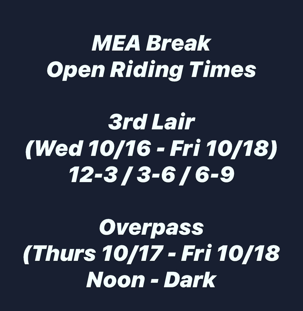 MEA Break Special Session Times