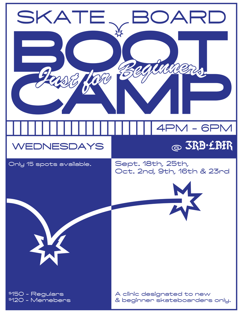 Fall Beginner Boot Camp Skateboard Clinic
