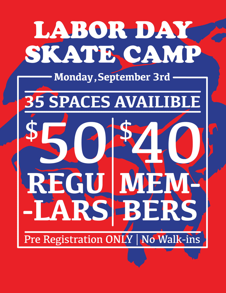 Registration now open for Labor Day Skateboard Camp