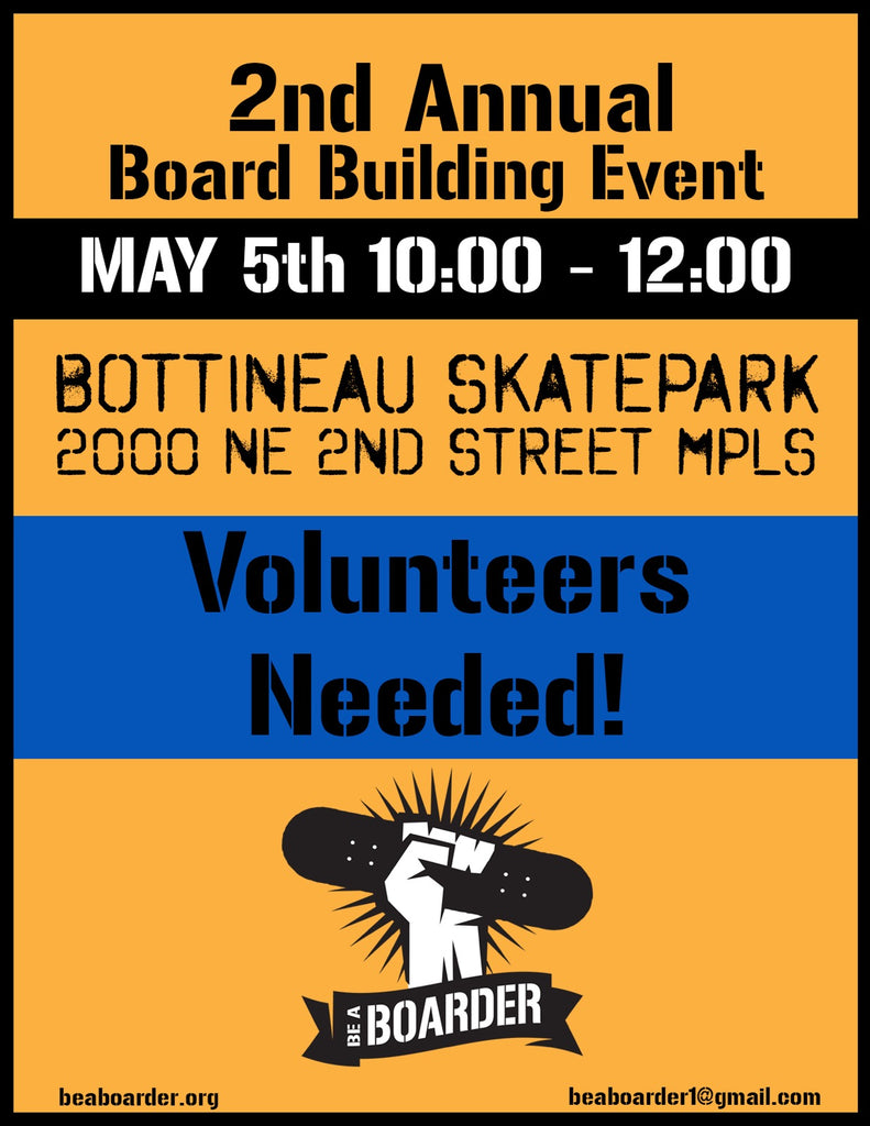2nd Annual Be a Boarder board building event