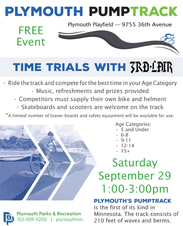 Plymouth Pump Track Time Trial - Sat Sep. 29, 2018