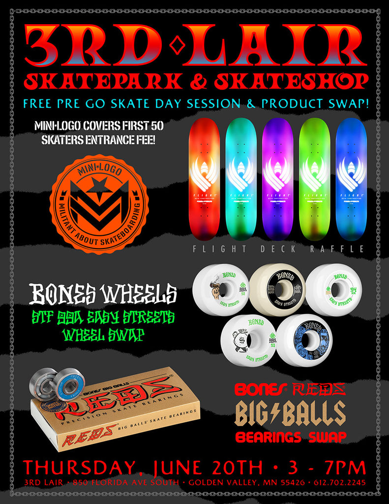 Free Session and Bearing Swap Thursday June 20