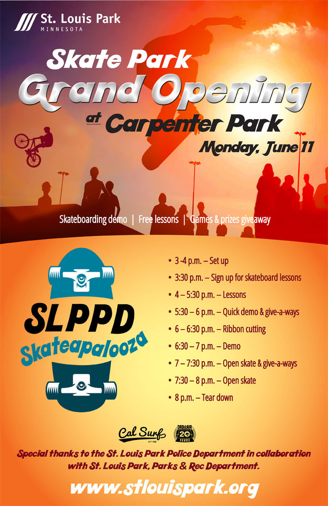 Skate-A-Palooza Re-Scheduled for Wed June 13